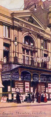 The Empire Theatre London around 1910